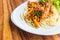 Stock Image : Spaghetti with prawn panag sauce