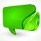 Stock Image : Speech green bubble on white