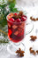 Stock Image : Spicy Christmas mulled wine on a silver background