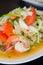 Stock Image : Spicy shrimp salad