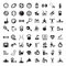 Stock Image : Sports and fitnes icons set