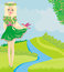Stock Image : Spring fairy