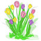 Stock Image : Spring flowers vector