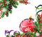 Stock Image : Spruce branches and red Christmas ball