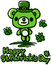 Stock Image : St Patrick's Day Cute bear