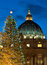 Stock Image : St. Peter's dome and Christmas tree