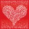 Stock Image : St.Valentine Love Red Heart Card IV