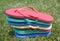 Stock Image : Stacked Flip-flops