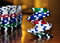 Stock Image : Stacked Poker Chips