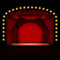 Stock Image : Stage with red curtain