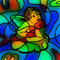 Stock Image : Stained Glass Cherub