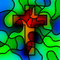 Stock Image : Stained Glass Cross