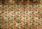 Stained vintage floral wallpaper