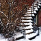 Stock Image : Staircase covered by snow