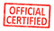 Stock Image : Stamp official certified