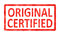 Stock Image : Stamp original certified