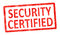 Stock Image : Stamp security certified