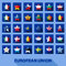 Stock Image : Stars icons with european union flags