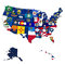Stock Image : State flags on map of usa