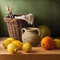 Stock Image : Still life with lemons and oranges