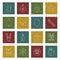 Stock Image : Stitched christmas icons