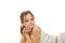Stock Image : Stock image of happy girl, isolated on white