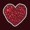 Stock Image : Stone heart. hand drawn.  illustration eps8