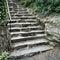 Stock Image : Stone steps in summer garden