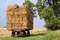 Stock Image : Straw bales on a trailer.