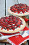 Stock Image : Strawberry Cream Pie