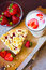 Stock Image : Strawberry crumble