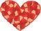 Stock Image : Strawberry Heart Shaped