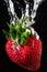 Stock Image : Strawberry splash