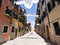 Stock Image : Street with cloths drying, Venice
