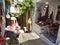 Stock Image : Street market in Symi
