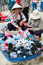 Stock Image : Street trading of socks, Vietnam