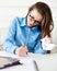 Stock Image : Student teen girl studying
