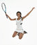 Stock Image : Stunning young African-American tennis player