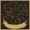 Stock Image : Stylish fireworks retro-style background.