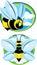 Stock Image : Stylized bees