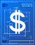 Stock Image : Dollar sign like blueprint drawing