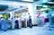 Stock Image : The subway platform dock,Business people activities