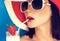 Stock Image : Summer beauty girl