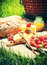 Stock Image : Summer Picnic with Fresh Strawberrу