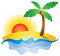 Stock Image : Summer Sunset Logo