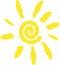 Stock Image : Sun logo