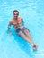 Stock Image : Sunbathing in the pool