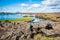 Stock Image : A sunny day on lake Myvatn, Iceland.