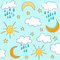 Stock Image : Sunny seamless baby pattern, wallpaper
