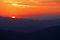 Stock Image : Sunrise From Clingman's Dome